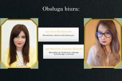 Obsługa biura: Anna Kwaśniewska, Dominika Czarnota-Zdybicka