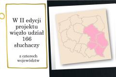 Slajd z mapą z podziałem na województwa