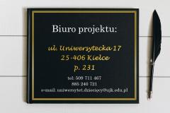 slajd z adresem biura projektu