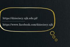 slajd z adresami strony internetowej i FB UD