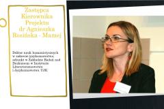 Zastępca kierownik projektu dr Agnieszka Rosińska-Mamej