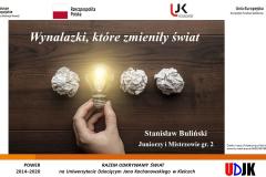 Slajd tytułowy prezentacji Stanisława Bulińskiego