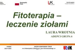 Slajd tytułowy prezentacji Laury Wrotniak
