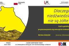 Slajd tytułowy prezentacji Bartosza Antoniaka