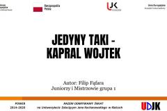 Slajd tytułowy prezentacji Filipa Fąfary