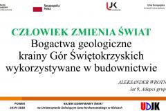 Strona tyułowa referatu autora Stanisław Buliński  – Człowiek zmienia świat – wielcy odkrywcy