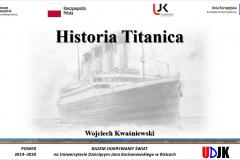Strona tyułowa referatu autora Wojciech Kwaśniewski – Prawdziwa historia Titanica