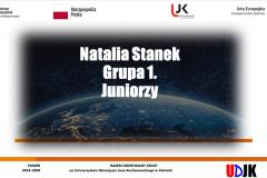 """Strona tyułowa referatu autora Natalia Stanek – """"Obcy"""" i ich technologie"""